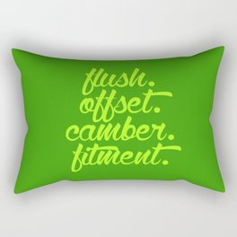 flush offset camber fitment v2 HQvector Rectangular Pillow
