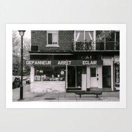 Depanneur Arret Eclair Art Print