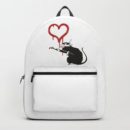 Love rat - Banksy Graffit Backpack