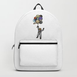 Astronaut With Balloons That Look Like Planets Backpack