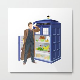 The Doctor Refreshes Metal Print
