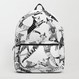 dog party black white Backpack