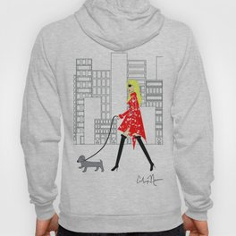 Red Jacket & the City Fashion Illustration Hoody