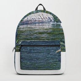 Heron's Leap - Great Blue Heron Backpack