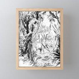 sketch of jungle Framed Mini Art Print