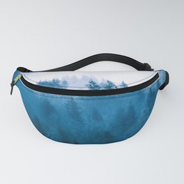 Blue Winter Day Foggy Trees Fanny Pack