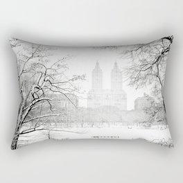 Winter - Central Park - New York City Rectangular Pillow