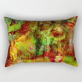 liberation of the evil spirit   (collaboration with the talented artist Timothy Davis ) Rectangular Pillow