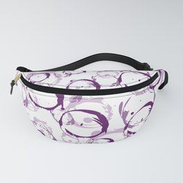 Pink Bubbles abstract Fanny Pack