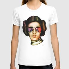 STAR WARS Princess Leia  White X-LARGE Womens Fitted Tee