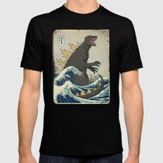 The Great Godzilla off Kanagawa Mens Fitted Tee Black MEDIUM
