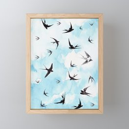 Swallows Framed Mini Art Print
