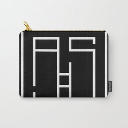 Initials A and S Carry-All Pouch