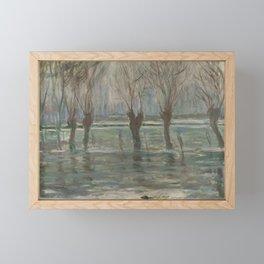 Flood Waters by Claude Monet Framed Mini Art Print