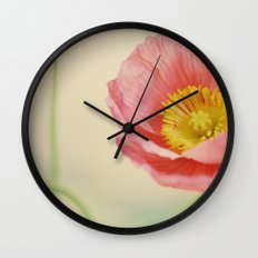 Pale Pink Wall Clock