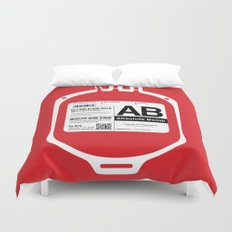 My Blood Type is AB, for Absolute Bomb! Duvet Cover