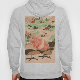 Farm Animals in Chairs #3 Pig Hoody