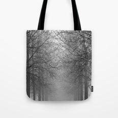 Mist Trees Tote Bag