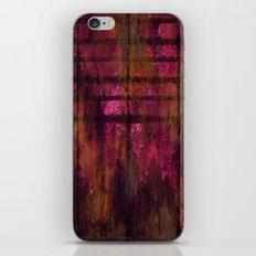 Lined Rainbow Rusted Metal Look iPhone & iPod Skin