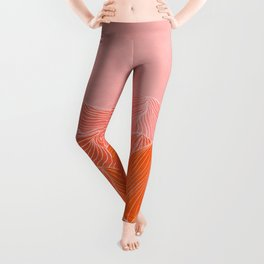 Lines in the mountains - pink II Leggings