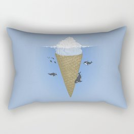 Ice Cream and Whale Rectangular Pillow