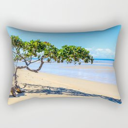 Beautiful day on the beach at Cape Tribulation, Queensland, Australia Rectangular Pillow
