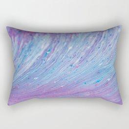 Macro of Acrylic Pour 3985 Rectangular Pillow