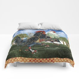 The Cluckfosters Step Out Comforters