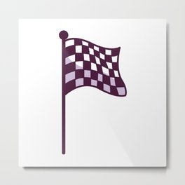 A Motorcycle Racing Flag. Metal Print