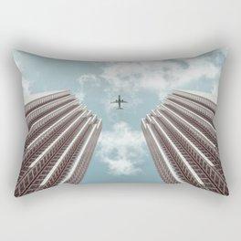 Plane high rise buildings Rectangular Pillow