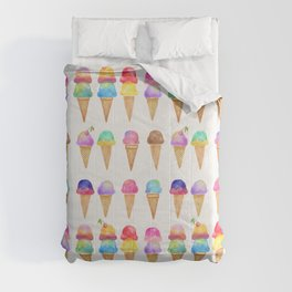 Summer Ice Cream Cones Comforters
