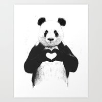 Art Prints featuring All you need is love by Balazs Solti