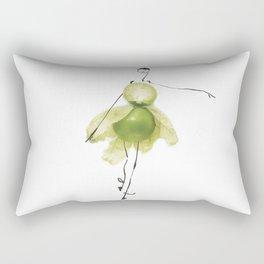 Edible Ensembles: Green Tomatillo Rectangular Pillow