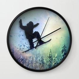 The Snowboarder: Air Wall Clock
