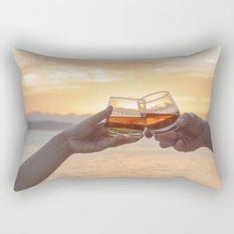 Romantic Evening Toast Rectangular Pillow
