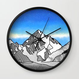 K2 MOUNTAIN LANDSCAPE Wall Clock