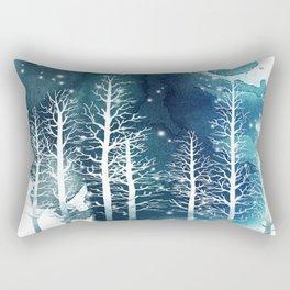 Winter Night 2 Rectangular Pillow