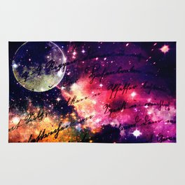 Letter from outer space Rug