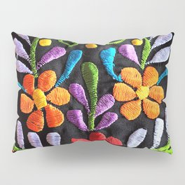 Mexican Flowers Pillow Sham