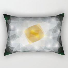 Abstract polygonal flower Rectangular Pillow
