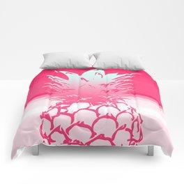Pink Pineapple Tropical Beach Design Comforters