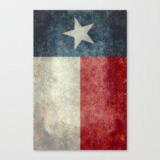 Texas state flag, Vintage banner version Canvas Print