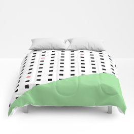 Squares Pattern Dipped in Green Comforters