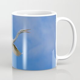 Stunning Egret in Flight Coffee Mug