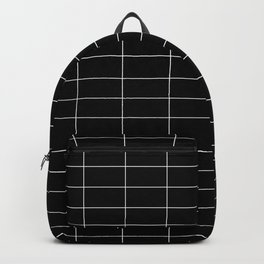 Long Grid Horitzontal Black Backpack