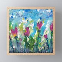 Tulip Hearts Framed Mini Art Print