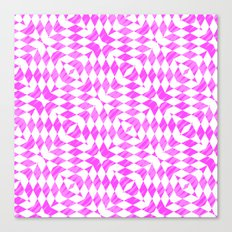 Pink And WHite abstract pattern Canvas Print