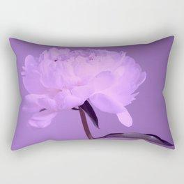 Single peony (ultra violet) Rectangular Pillow