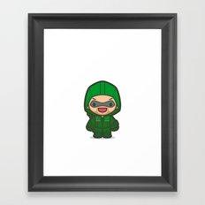 Green Archer Framed Art Print