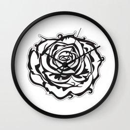 single rose black & white Wall Clock